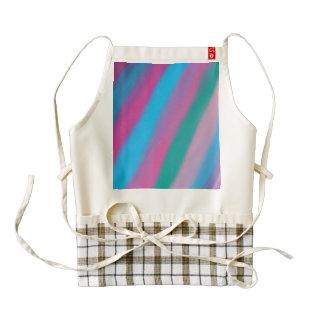 Neon pink green blue stripes pattern zazzle HEART apron