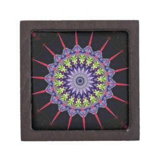Neon Pink Green Lavender Mandela With Spikes Gift Box