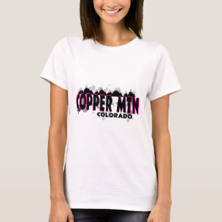Neon pink grunge Copper Mountain Colorado T-Shirt