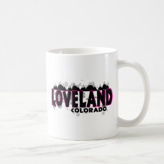 Neon pink grunge Loveland Colorado Coffee Mug