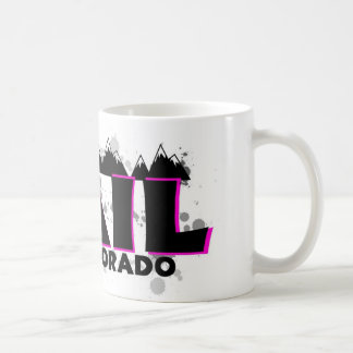 Neon pink grunge Vail Colorado Coffee Mug