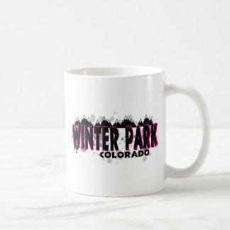 Neon pink grunge Winter Park Colorado Coffee Mug