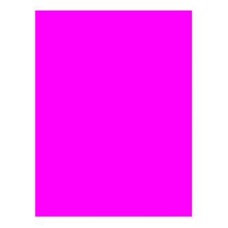Neon pink hex code FF00FF Postcard