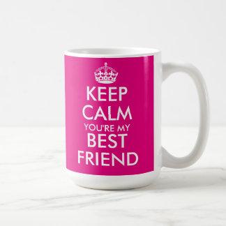 Neon pink Keep Calm friendship mug for best friend