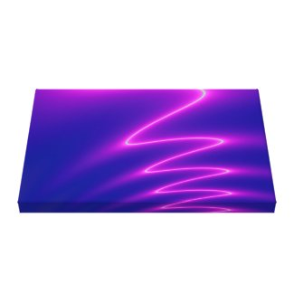 Neon Pink Lightning Canvas Print