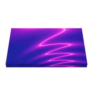 Neon Pink Lightning Canvas Print
