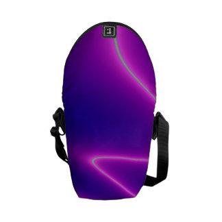 Neon Pink Lightning Courier Bag