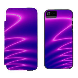 Neon Pink Lightning iPhone SE/5/5s Wallet Case