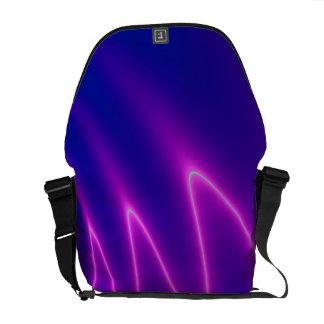 Neon Pink Lightning Messenger Bag