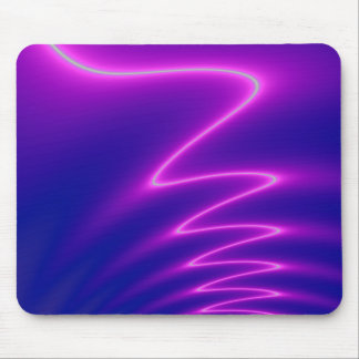 Neon Pink Lightning Mouse Pad