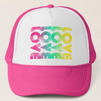 Neon Pink Love Trucker Hat