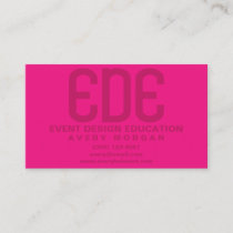 Neon Pink Minimal Business Card
