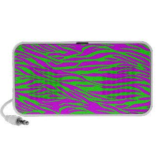 Neon Pink on Green Zebra Print Speaker System