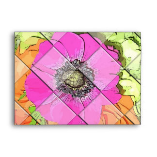 Neon Pink Orange and Green Envelope