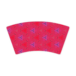 Neon Pink Orange Fluorescent Funky Pattern Paper Cup