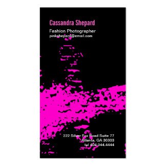 Neon Pink Paint Business Card