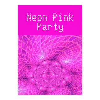 Neon pink party card