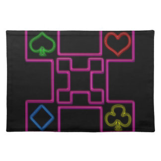 Neon pink poker cloth placemat