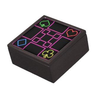 Neon pink poker gift box