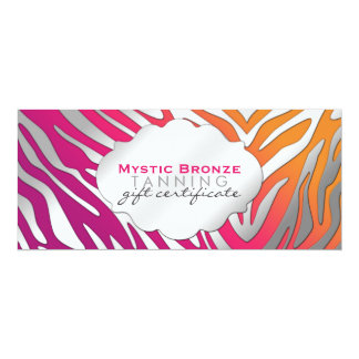Neon Pink & Purple Zebra Print Gift Certicates Card