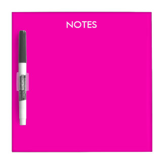 Neon Pink Solid Color Customize It Dry-Erase Board