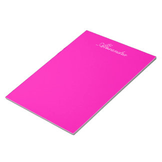 Neon Pink Solid Color Customize It Notepad