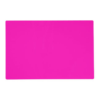 Neon Pink Solid Color Customize It Placemat