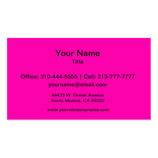 Neon Pink Solid Color Double-Sided Standard Business Cards (Pack Of 100)