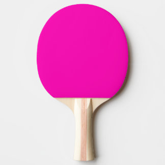 Neon Pink Solid Color Ping Pong Paddle