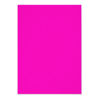 "Neon Pink Solid Color 5"" X 7"" Invitation Card"
