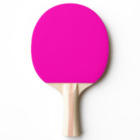 Neon Pink Solid Color Ping-Pong Paddle