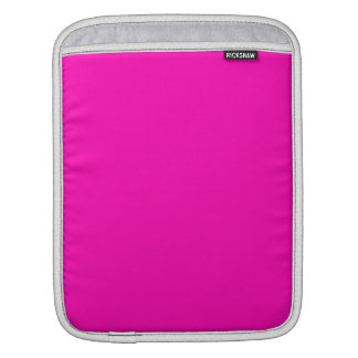 Neon Pink Solid Color Sleeves For iPads