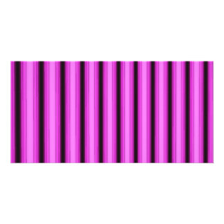 Neon Pink Stripes Card