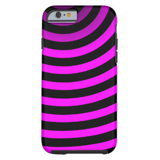 Neon Pink Stripes Tough iPhone 6 Case