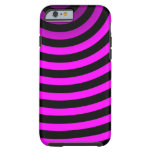 Neon Pink Stripes iPhone 6 Case