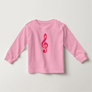 Neon Pink Treble Clef T Shirt