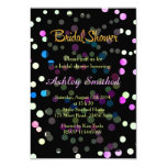 Neon Pink Turquoise Polka Dots Bridal Shower Card