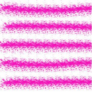 Neon pink watercolour stripes splatters statuette
