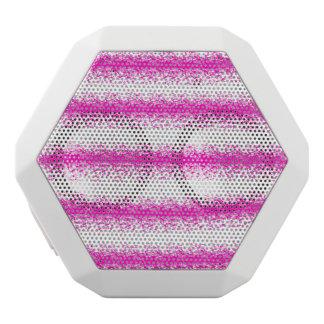 Neon pink watercolour stripes splatters white bluetooth speaker