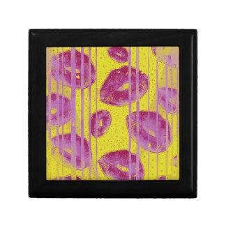 Neon Pink Yellow Kisses Gift Box