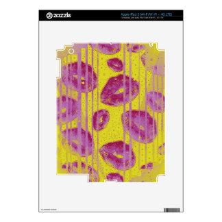 Neon Pink Yellow Kisses iPad 3 Skin
