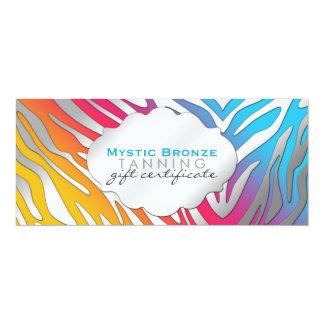 Neon Pink & Yellow Zebra Print Gift Certicates Card
