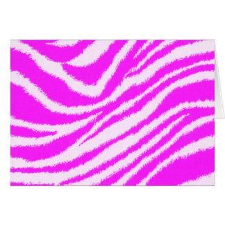 Neon Pink Zebra Card