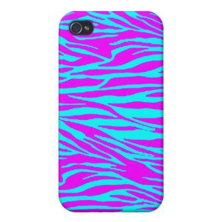 Neon Pink Zebra Print iPhone 4/4S Covers
