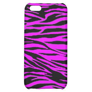 Neon Pink Zebra Print iPhone 5C Cover