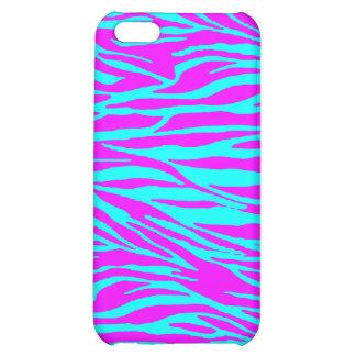 Neon Pink Zebra Print iPhone 5C Covers