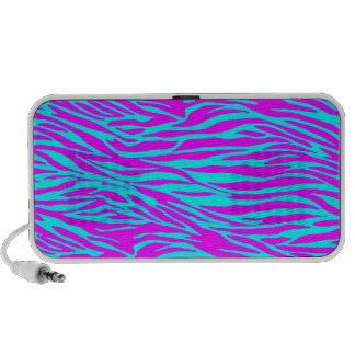 Neon Pink Zebra Print iPod Speakers