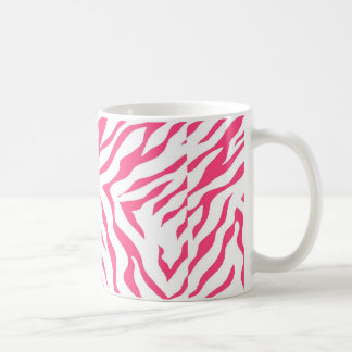 Neon Pink Zebra Stripes Coffee Mug