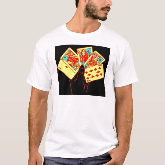 Neon Playing Cards T-Shirt