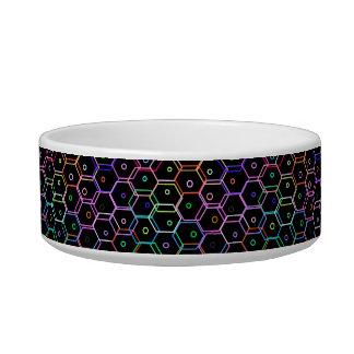 Neon Polygon Pattern 233 Bowl